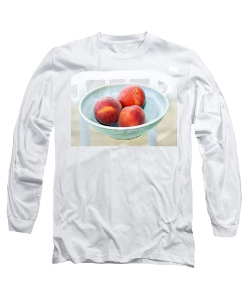 Autumn Peaches Long Sleeve T-Shirt by Marilyn Hunt