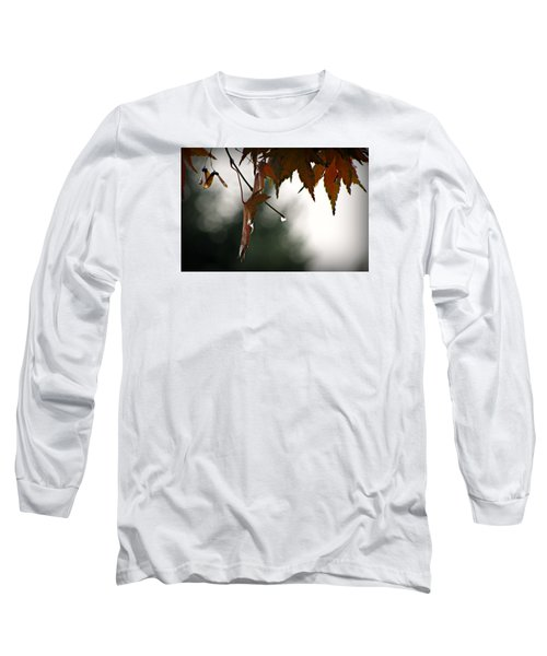 Long Sleeve T-Shirt featuring the photograph Autumn Raindrops by Katie Wing Vigil