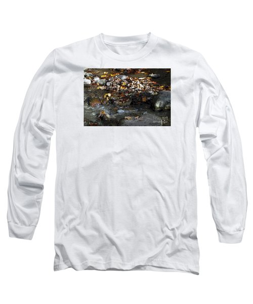 Long Sleeve T-Shirt featuring the drawing Autumn Soup by Diane E Berry