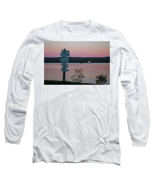 Autumn Sunset At Esopus Meadows Long Sleeve T-Shirt