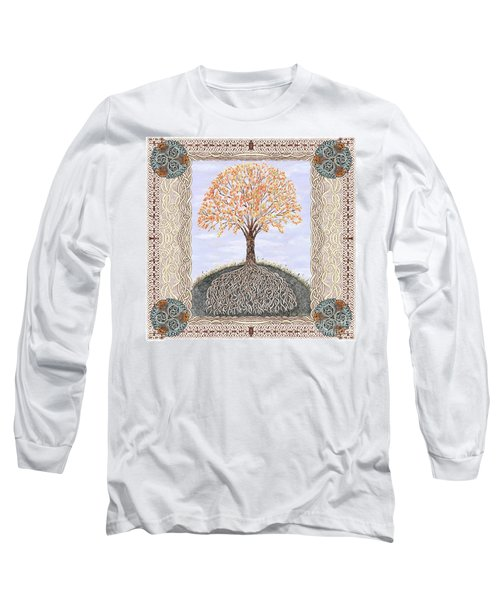 Autumn Tree Of Life Long Sleeve T-Shirt by Lise Winne