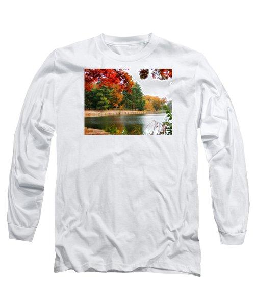 Autumn View Long Sleeve T-Shirt by Teresa Schomig
