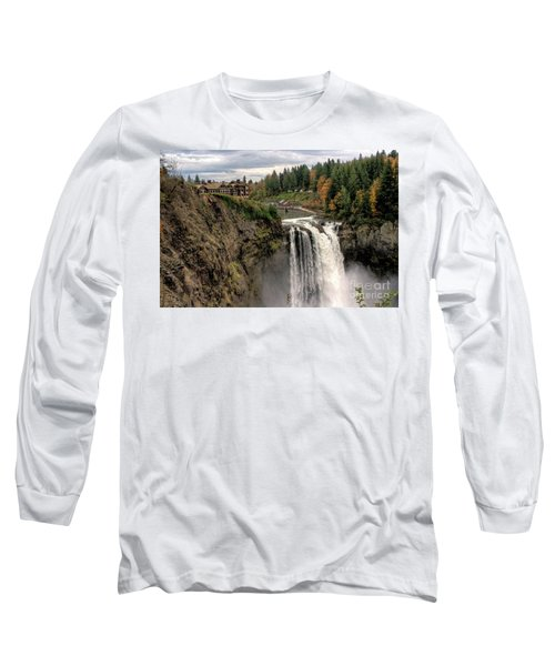 Autumnal Falls Long Sleeve T-Shirt by Chris Anderson
