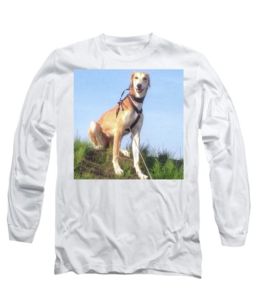 Ava-grace, Princess Of Arabia  #saluki Long Sleeve T-Shirt by John Edwards