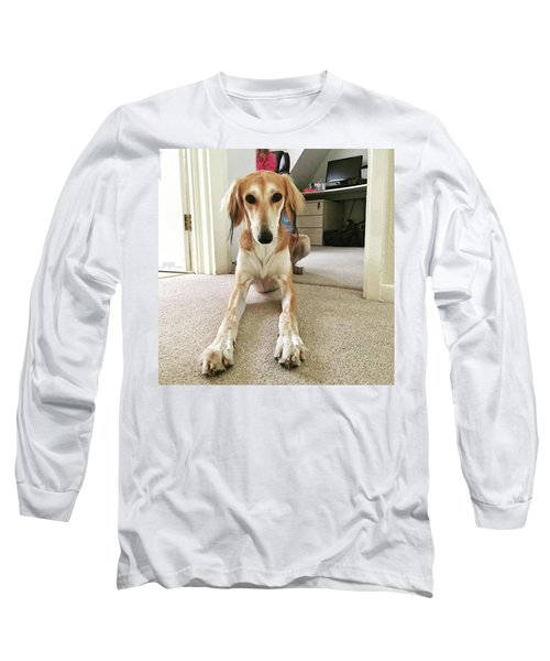 Ava On Her First Birthday #saluki Long Sleeve T-Shirt