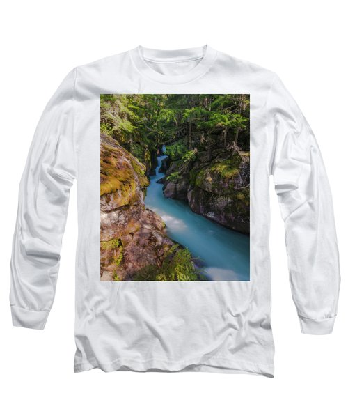 Long Sleeve T-Shirt featuring the photograph Avalanche Gorge 5 by Gary Lengyel