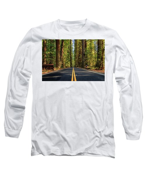 Avenue Of The Giants Long Sleeve T-Shirt by James Eddy