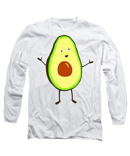 Avocado Fruit Long Sleeve T-Shirt