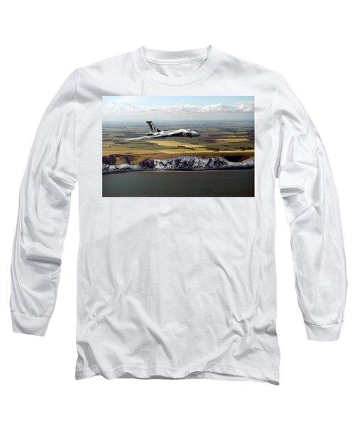 Avro Vulcan Over The White Cliffs Of Dover Long Sleeve T-Shirt