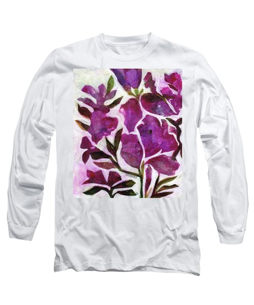 Long Sleeve T-Shirt featuring the painting Azaleas by Julie Maas
