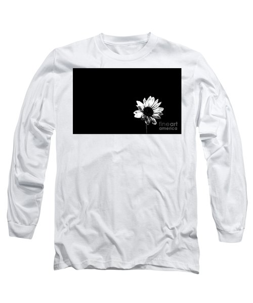 Long Sleeve T-Shirt featuring the photograph B/w Flower  by Juls Adams