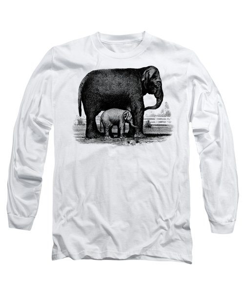Baby Elephant T-shirt Long Sleeve T-Shirt