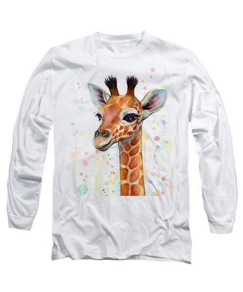 Baby Giraffe Watercolor  Long Sleeve T-Shirt