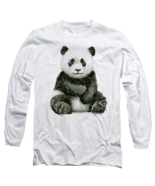 Baby Panda Watercolor Long Sleeve T-Shirt
