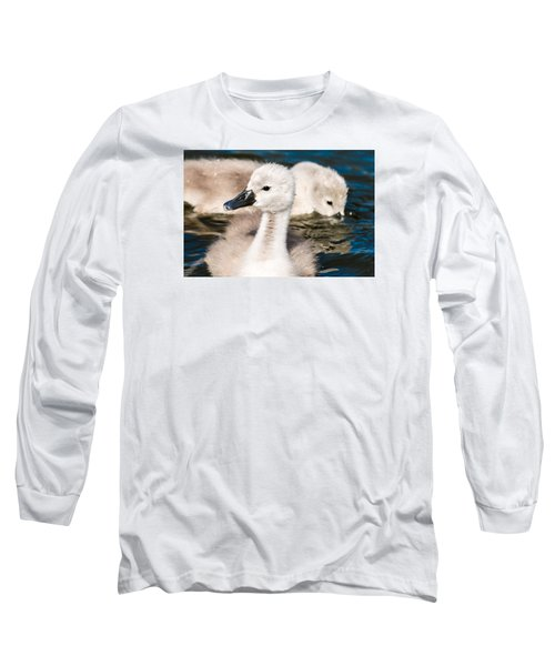 Baby Swan Close Up Long Sleeve T-Shirt