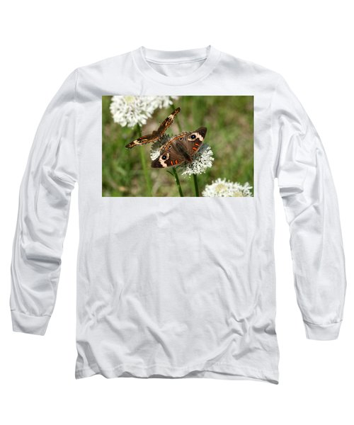 Back To Back Butterflies Long Sleeve T-Shirt by Sheila Brown