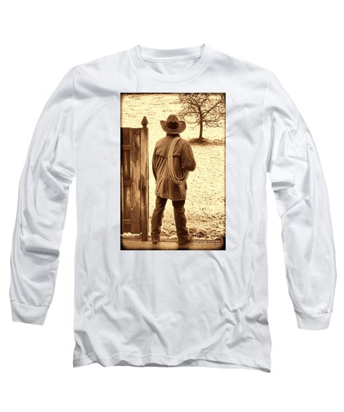Back To Work Long Sleeve T-Shirt by American West Legend By Olivier Le Queinec