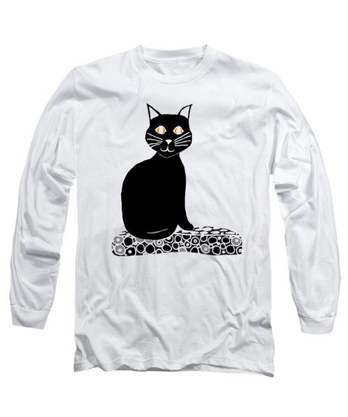Background Choice Black Cat Long Sleeve T-Shirt