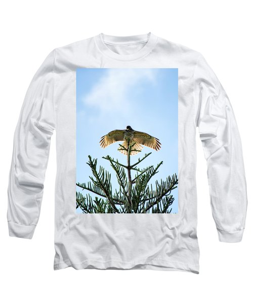 Backlit Landing Hawk Long Sleeve T-Shirt