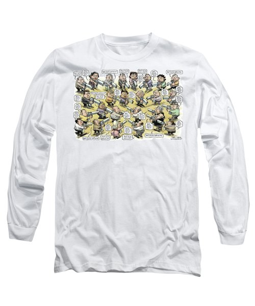 Bad Guys Watch Out Long Sleeve T-Shirt