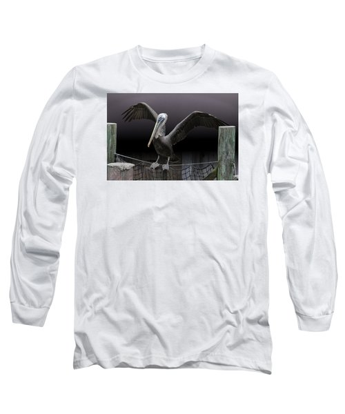 Balancing Act - Pelican Long Sleeve T-Shirt