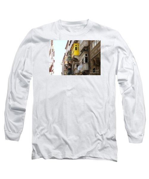 Balconies Of Valletta 1 Long Sleeve T-Shirt
