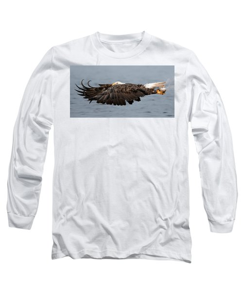 Bald Eagle And Fish Long Sleeve T-Shirt