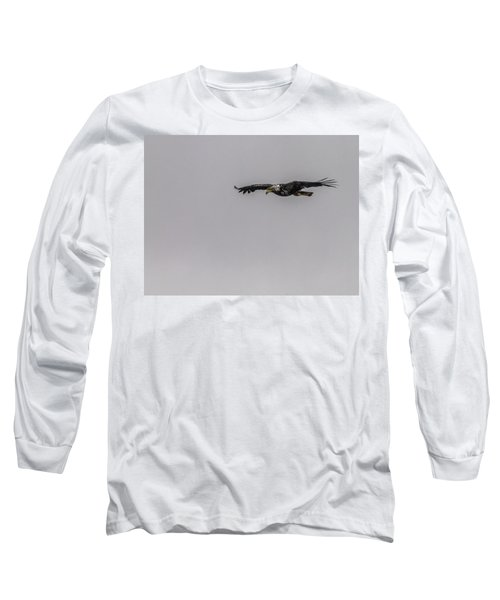 Long Sleeve T-Shirt featuring the photograph Bald Eagle Gliding by Timothy Latta