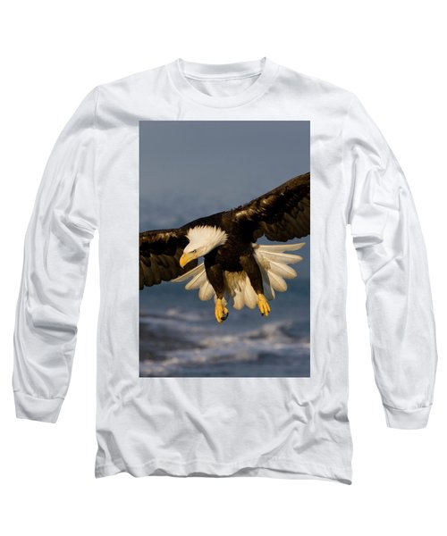 Bald Eagle In Action Long Sleeve T-Shirt
