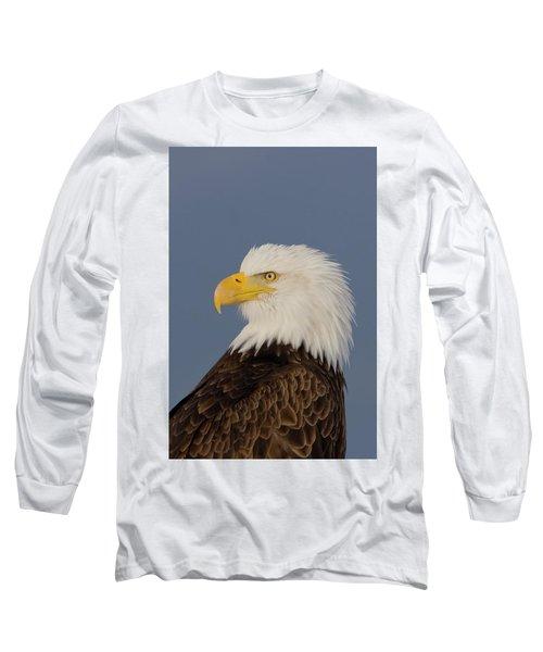 Bald Eagle Portrait Long Sleeve T-Shirt