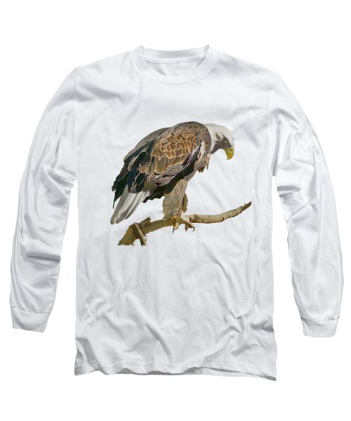 Long Sleeve T-Shirt featuring the photograph Bald Eagle - Transparent by Nikolyn McDonald