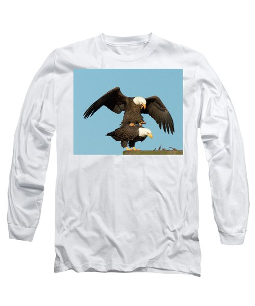 Bald Eagles Mating Long Sleeve T-Shirt