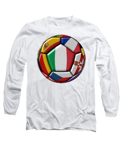 Ball With Flag Of Italy In The Center Long Sleeve T-Shirt by Michal Boubin