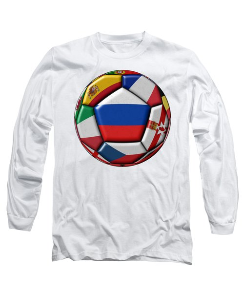 Ball With Flag Of Russia In The Center Long Sleeve T-Shirt