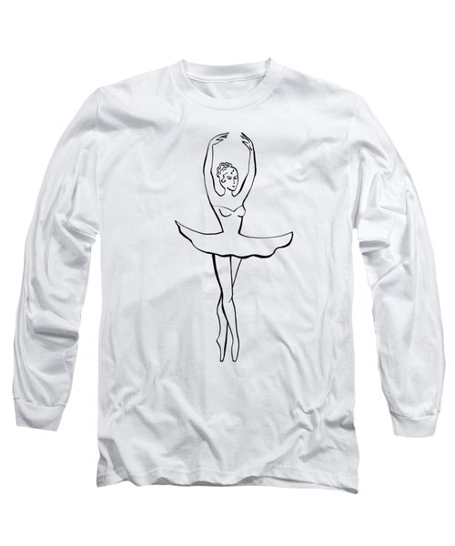 Ballerina In The Pink Dress Long Sleeve T-Shirt
