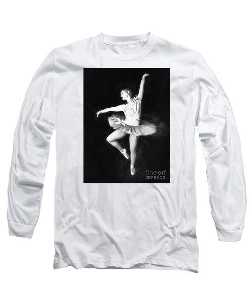 Long Sleeve T-Shirt featuring the photograph Ballerina  No. 2   ... by Chuck Caramella
