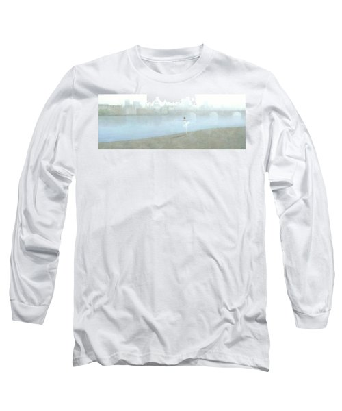 Ballerina On The Thames Long Sleeve T-Shirt by Steve Mitchell