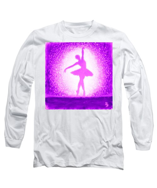 Ballerina Purple And Pink Long Sleeve T-Shirt