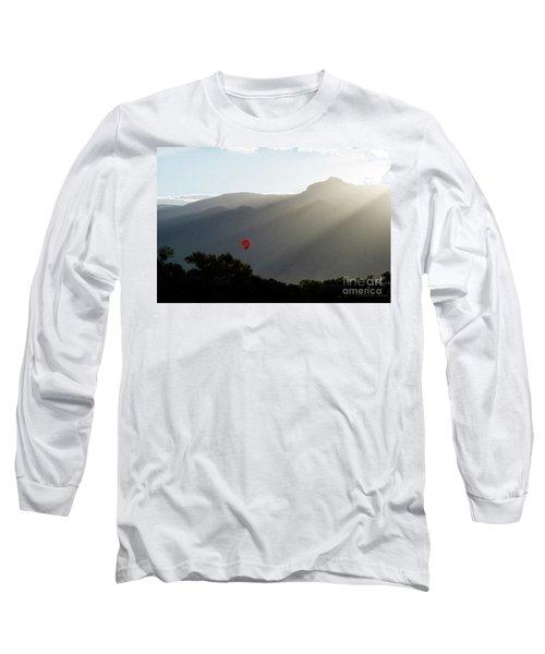Balloon At Sunrise Long Sleeve T-Shirt