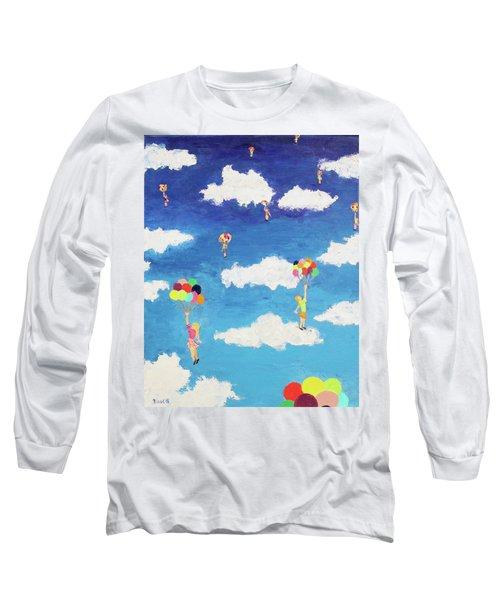 Balloon Girls Long Sleeve T-Shirt by Thomas Blood