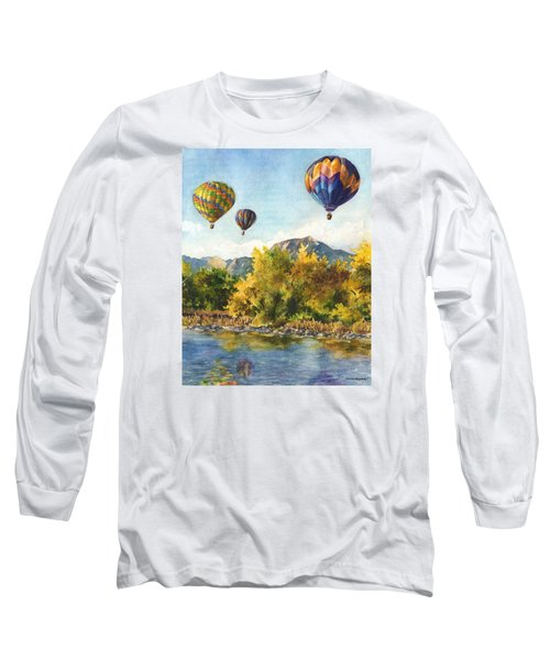 Balloons At Twin Lakes Long Sleeve T-Shirt by Anne Gifford