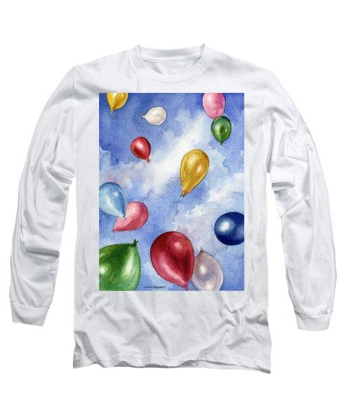 Balloons In Flight Long Sleeve T-Shirt