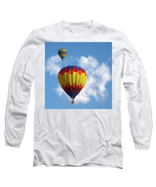 Long Sleeve T-Shirt featuring the photograph Balloons In The Cloud by Marie Leslie