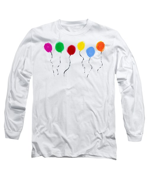 Long Sleeve T-Shirt featuring the painting Balloons  by Tim Gainey