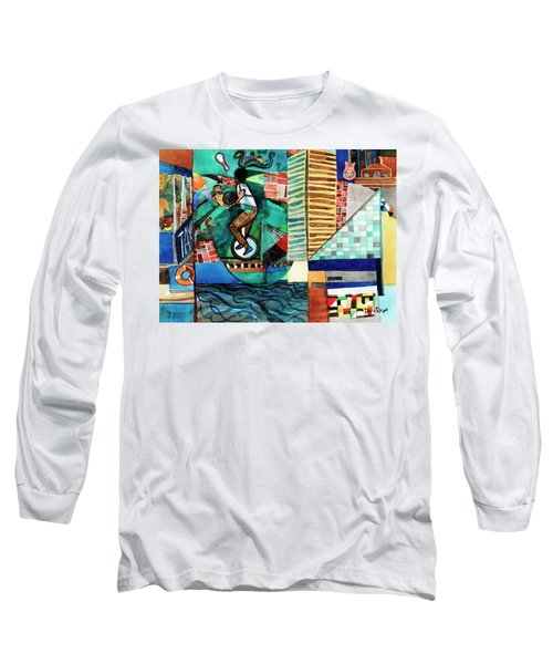 Baltimore Inner Harbor Street Performer Long Sleeve T-Shirt