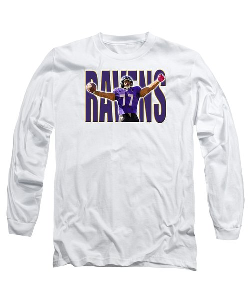 Long Sleeve T-Shirt featuring the digital art Baltimore Ravens by Stephen Younts