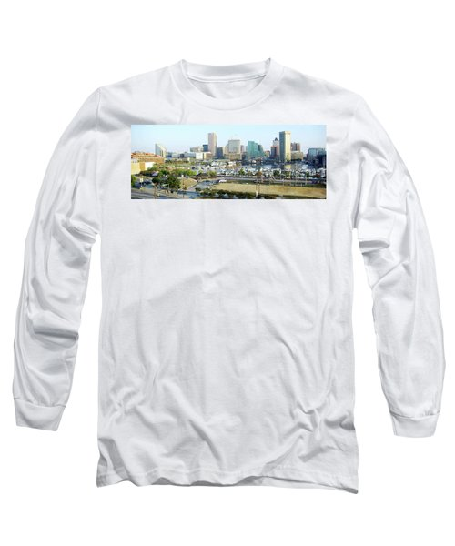 Long Sleeve T-Shirt featuring the photograph Baltimore's Inner Harbor by Brian Wallace