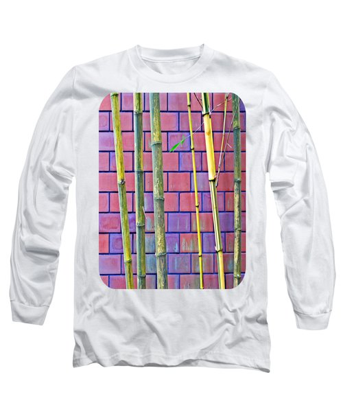 Bamboo And Brick Long Sleeve T-Shirt by Ethna Gillespie