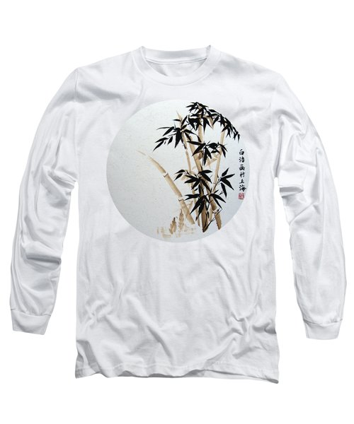 Bamboo - Braun - Round Long Sleeve T-Shirt by Birgit Moldenhauer