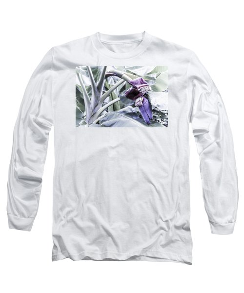 Banana Beginnings In Cool Shades Long Sleeve T-Shirt by Kerri Ligatich